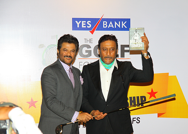 <div class='clear_description'>Anil Kapoor & Jackie Shroff at the YES Bank-Golf Foundation Invitational Golf Championship Gala Dinner 2014</div>